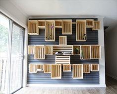 unikale wohnwand deko selber bauen aus europaletten mobel aus paletten holzkisten paletten ideen