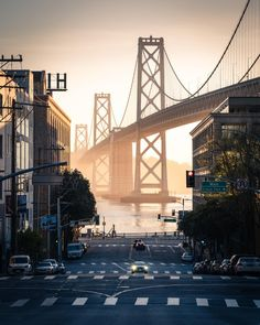 ITAP of The Bay Bridge at Dawn San Francisco. by Grimshackle . San Francisco At Night, San Francisco Travel, Night Photography, Amazing Photography, Landscape Photography, San Francisco Photography, Bridge Design, World Pictures, City Aesthetic