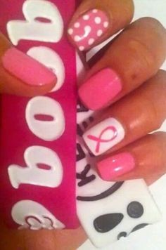 Breast cancer nails (want in colon cancer color)