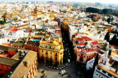 Sevilla, Spain.  View from cathedral bell tower.