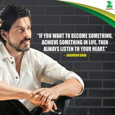 """"""""""" If you want to become something, achieve something in life, then always listen to ur """" - Shahrukh Khan Family, Shahrukh Khan And Kajol, Shah Rukh Khan Quotes, Sandeep Maheshwari Quotes, Salim Khan, Legend Quotes, Dear Zindagi, Bollywood Quotes, Genius Quotes"""
