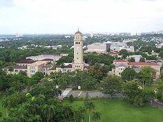 Rio Piedras Puerto Rico History   The University of Puerto Rico at Río Piedras campus. Its distinctive clock tower is a landmark of both the campus and Río Piedras.