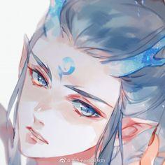 Character Art, Character Design, Sad Art, Aesthetic Themes, Anime Demon, Manga Characters, Copics, Chinese Art, Anime Guys