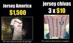 Este es ejemplo de la diferencia de valor. ¡Arriba el América!