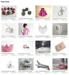 Pops of pink by Georgia on Etsy Esty, Georgia, Pink, Gifts, Presents, Favors, Pink Hair, Roses, Gift
