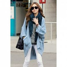 $11.47 Stylish Loose Fitting Double Pocket Dolman Sleeve Sweater for Women