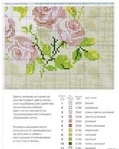 Cross stitch: Roses Pillow embroidery ~ Craft , handmade blog