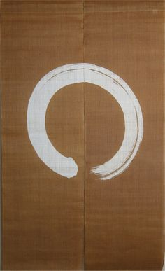 noren with enso zen pattern