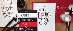 Valentine's Day cards by Kirsten Burke