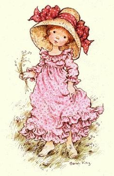 Holly Hobbie -I had a holly hobby doll with a blue dress...
