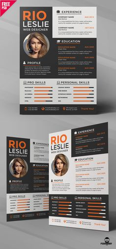 Creative Resume Templates, Professional Resume, Photoshop Design, Free Resume, Web Design, Resume Maker Professional, Design Web, Professional Resume Template, Website Designs