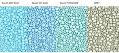 Hank Size 11 choose BLUE 4 BLUE 2 BLUe 3 by ArtJewelryBeadsNMore