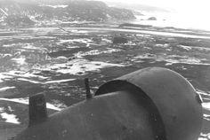 Værnes flyplass sett fra et tysk Junker 52 transportfly (Foto: Tysk soldat)