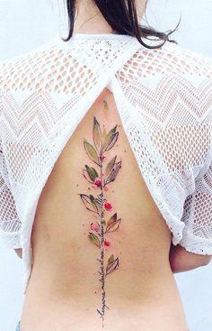 Gave Wervelkolom Tattoo's Voor Dames Opzoek Naar 65.000 Tattoo Voorbeelden? Klik Dan Hieronder!