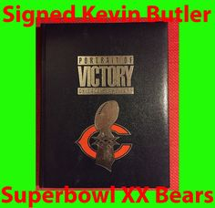 *Signed** Kevin Butler 6 Portrait of Victory Chicago Bears NFL 1985 Superbowl XX