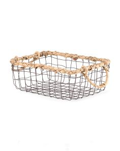 image of Wire Basket With Natural Trim