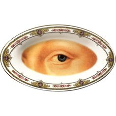 Lover's Eye - Vintage Porcelain Tray - #0583 by ArtefactoStore on Etsy