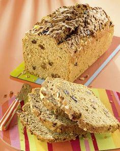 Ein einfaches Brot mit Dinkelmehl und Müsli, lecker für Kinder