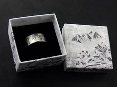 Sterling Silver Mountain Range Ring, Oxidised and Polished Sierra Ring Custom Made Gift, Mountain Range, Keep In Mind, It Is Finished, Thankful, Symbols, Sterling Silver, Rings