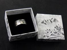 Sterling Silver Mountain Range Ring, Oxidised and Polished Sierra Ring Custom Made Gift, Mountain Range, Thankful, Polish, It Is Finished, Sterling Silver, Rings, Etsy, Vitreous Enamel