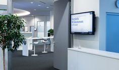 Digitale Besucherbegrüßung im IBM Client Center in Ehningen