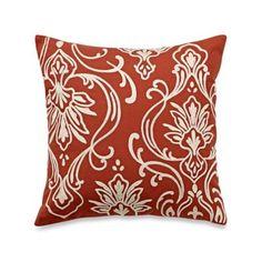Blue Stone Court Calista Crewel Motif Square Throw Pillow - BedBathandBeyond.com