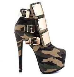 Zapato miitar con tacón #Zapatomujer #Tacones #Amazonmoda #Tallasgrandescalzado