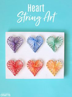 Add a fun and colorful piece to your decor with this pretty heart string art DIY. It's a simple and fun way to add lots of interest to any space!
