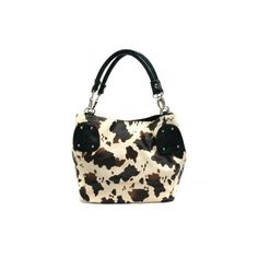 Cow Print Adjustable Tote ($25) via Polyvore, oh I need this!