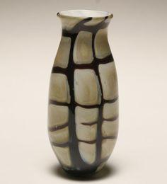 Nourot green studio glass vase.