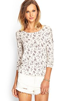 Long-Sleeved Floral Top from Forever 21, they also have it in blue/light blue!