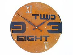Outnumbered I Modern Wall Clock Extra Large Rusted by All15Designs, $132.00