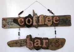 Hey, I found this really awesome Etsy listing at https://www.etsy.com/listing/169023204/coffee-bar-driftwood-art-reclaimed-wood