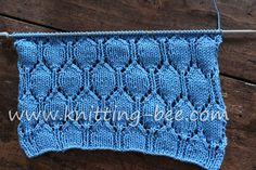 Oval Lace Pattern Free Knitting Stitch