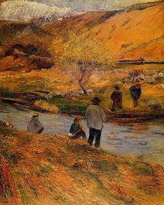 Breton fisherman, By Artist:, Paul Gauguin