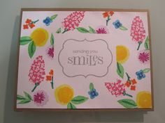 a birthday card using wplus9 fresh cut florals stamp set