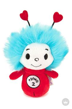 Looking for a sweet and fun gift idea to give your kids this Valentine's Day? Miniature Thing Two itty bittys®  Stuffed Animal from Dr. Seuss, will steal the heart of your valentine with its adorable face and signature blue hair.