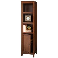 Bring the perfect mix of style and function to your home with the Carson Narrow Bookcase with Door from Threshold™. The top three shelves let you displa Tall Narrow Bookcase, Solid Oak Bookcase, Pine Bookcase, Tall Shelves, Corner Bookshelves, Small Bookshelf, Etagere Bookcase, Desk Shelves, Display Shelves