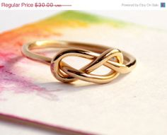 Infinity Knot Ring-- 14K Gold-filled ring, gold filled ring, love ring, love knot, Mother's Day, promise ring, infinity friendship ring on Etsy, $24.00