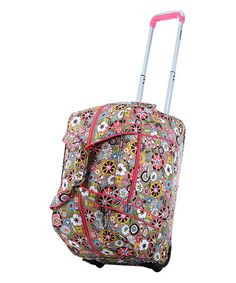 Take a look at this Tulip Fashion 21 Wheeled Duffel by Olympia on #zulily today!