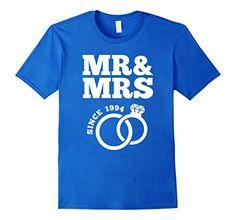 Men S 23rd Wedding Anniversary Gift T Shirt Mr Mrs Since 1994 Xl Royal Blue