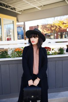 New Darlings - Fall Fashion in Grand Rapids - Turtleneck and long wool coat