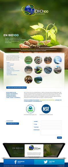 Les presentamos el sitio de Bio100, una empresa que colabora con el medio ambiente.