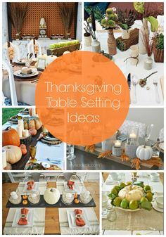 Really pretty and unique table setting ideas for Thanksgiving dinner! Or just the fall in general.