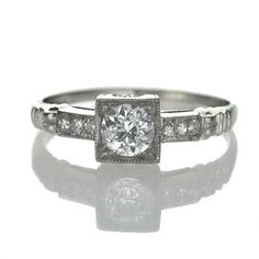Leigh Jay Nacht Inc. - Circa 1930's Engagement Ring - 3R080-06