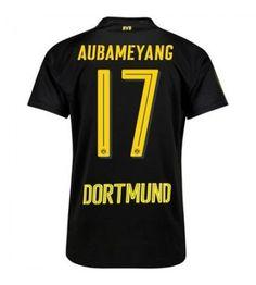 Billiga Dortmund Aubameyang 17 Bortatröja 17-18 Kortärmad Football, Borussia Dortmund, Soccer, Futbol, American Football, Soccer Ball