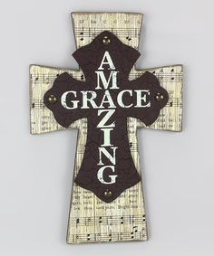 Love this 'Amazing Grace' Cross on #zulily! #zulilyfinds