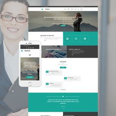 40 best business website templates images on pinterest business peace responsive website template business accmission Gallery