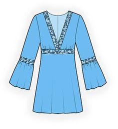 4270 PDF patrón de costura de túnica personalizado por TipTopFit
