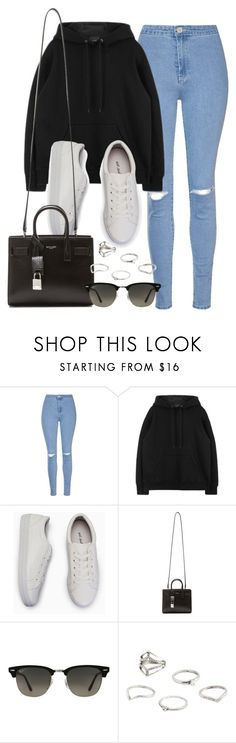 """Sin título #11986"" by vany-alvarado ❤ liked on Polyvore featuring Glamorous, Yves Saint Laurent, Ray-Ban and MANGO"